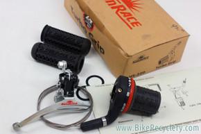 Sunrace Turbo Grip Twist Shifter & Grips: Rear 8sp - Bonus Front Derailleur (NEW)