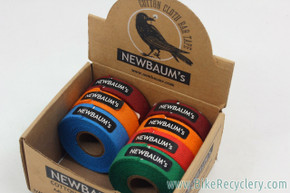 Newbaum's Cotton Handlebar Tape LOT: 7pc - Grass Green / Orange / Blue / Maroon