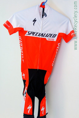 Ned Overend Team-Issued Specialized SL Skinsuit: XS - Short Sleeve - Lightweight - Red & White (Near Mint)