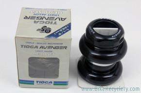 "NIB/NOS Tioga Avenger Headset: 1 1/8"" Threaded - Triple Sealed - 28.6mm - Black"
