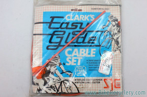 NIB/NOS Vintage PINK (Peach) Road Brake/Shift Cable & Housing Set: Clark's Easy Glide - Teflon - French & Standard Ends
