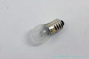 NOS Schwinn Dynamo Generator Headlight Bulb: 04-128 - 6V 2.4W - Textured Glass - Screw In