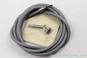 NOS Sturmey Archer HSJ-102 3sp Trigger Shifter Cable: Grey Ribbed Housing - Anchorage - Vintage 1960's 1970's