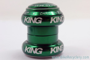 "Chris King Limited GREEN Threadless Headset: 1 1/8"" NoThreadSet (NEW)"