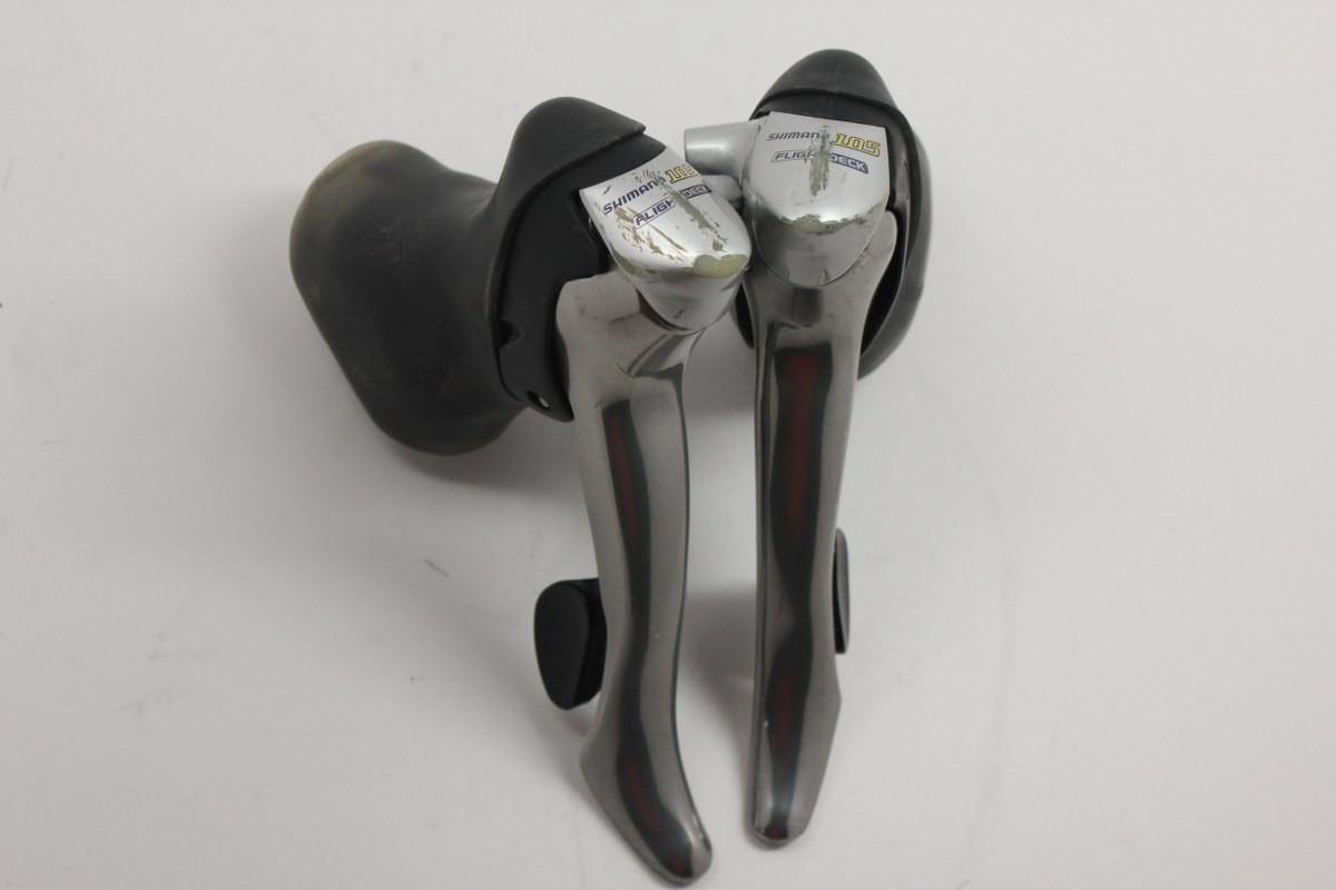 Shimano 105 9-speed STI Shifters: ST-5500 Triple/Double - Bike Recyclery