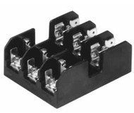 BC6032SQ 2 Pole Fuse Block for Class CC Fuses, 1/10 to 20Amp, 600V, Screw Terminal with Quick Connect