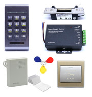 125Khz RFID Access Control ID Password Safty Entry System Door Lock US Standrad Electric Strike Set