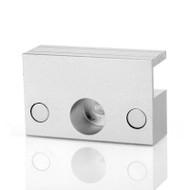 High quality frameless glass door bolt electric lock aluminum material U bracket