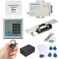 125KHz RFID ID Keyfobs One Door Access Control Machine Kit Electric Strike Lock Access Control System