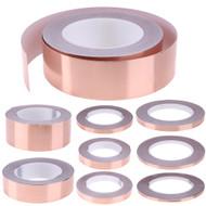30 Meters Single Side Conductive Copper Foil Tape Strip Adhesive EMI Shielding Heat Resist Tape 5mm 6mm 8mm 10mm