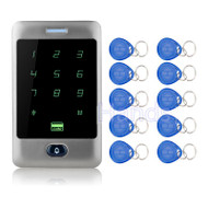 125KHZ Metal Touch Screen Keypad Access Controller Door Lock Coded Lock System C30 Model Card Reader+10 Key fobs