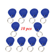 10pcs Access Control RFID Keyfobs 125KHz Proximity ID Token Tag Key Keyfobs Blue Color for Door Access Control System F1661A