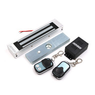 Wireless 315Mhz Remote Control Magnetic lock Kit with Remote Handle Exit Button Power Supply 180Kg 350Lbs