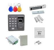 Fingerprint + Password + Id Card Biometric Access Control & Biometric Door Lock Entry Kit (Magnetic Lock+ ZL Bracket)