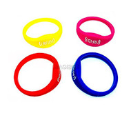 4PCS Colorful 125khz em4100 Rfid Waterproof Proximity RFID wristbands bracelets wrist band silicone id wristband