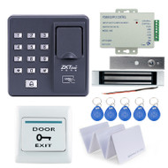 RFID reader  biometric fingerprint access control X6+350lbs magnetic lock+power supply+exit button+10pcs key cards