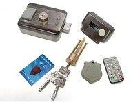 Electronic integrated RFID lock, Double reading card to open the door 125KHZ+10Keyfob+Power supply