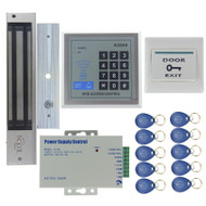 280KG Magnetic Lock Door Access Control System Kit Set +Rfid Password Keypad +Power +Exit Button For Office Home