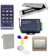 125Khz RFID Access Control ID Password Safty Entry System Door Lock Magnetic Set