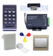 125Khz RFID Access Control ID Password Safty Entry System Door Lock Electric Strike Set