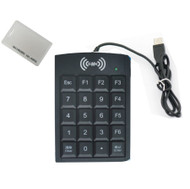 125KHZ RFID EM4100 reader& number key USB port + 10pcs cards