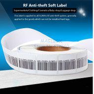 1000pcs/roll 8.2MHz RF Soft Label , Security Anti-theft Tags ,RF Barcode Stickers ,EAS system