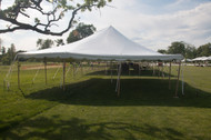 30 X 30 White Canopy Pole Tent