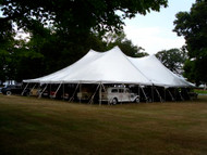 60 x 150 Sectional Canopy Pole Tent shown as 60 x 60