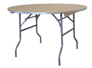 """48"""" Round Wooden Table Straight View"""
