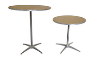 """30"""" Round Wooden Cocktail/Bistro Table Both heights"""