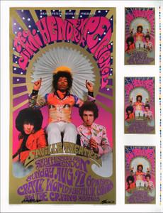 Jimi Hendrix Poster The Saville London Bob Masse Karl Ferris Signed by Both RARE