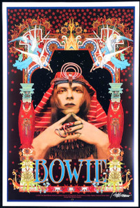 """David Bowie Poster """"Pharoah"""" Gorgeous New Hand-Signed Lithograph by Bob Masse"""