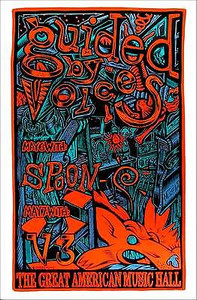 Guided by Voices Poster San Francisco 1996 S/N Silkscreen 250# John Howard
