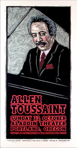 Allen Toussaint Poster Rare Signed Numbered Silkscreen by Gary Houston