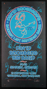 David Bromberg Poster 70th Birthday Bash New York #128/135 Signed Gary Houston