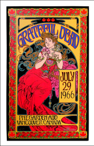 Grateful Dead Poster July 1966/2016 Record Store Day Edition AP Signed Bob Masse