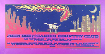 John Doe and The Sadies 2009 Tour Poster Original SN Silkscreen by Gary Houston