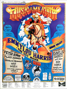 Emmylou Harris Peter Rowan Music in the Meadow Festival Poster Grass Valley 1981
