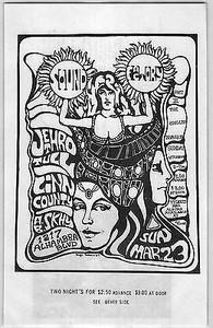 Jethro Tull Original Vintage 1969 Handbill Sound Factory Sacramento Very Rare