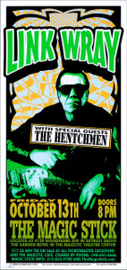 Link Wray & the Hentchmen Poster 2000 Signed Silkscreen by Mark Arminski