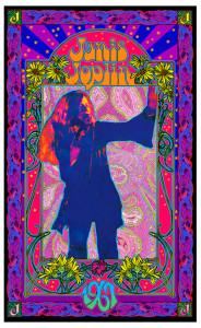 Janis Joplin Poster Psychedelic Explosion Original Lithograph Signed Bob Masse