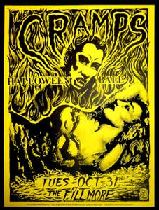 Cramps Halloween Ball Philip Cooper Fillmore Auditorium 1989 Yellow Paper