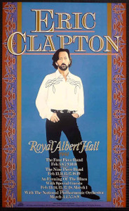 Eric Clapton Poster Royal Albert Hall 1991 24 Nights 48 Shows Gary Grimshaw