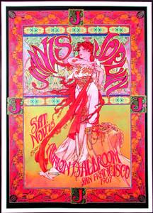 Janis Joplin Poster Avalon Ballroom Fan Poster Signed by Illustrator Bob Masse
