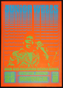 Junior Wells Poster at the Matrix 1966 Victor Moscoso Neon Rose NR-1 RP-2 MINT