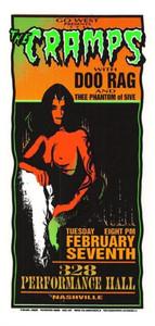 Cramps Original Poster Handbill Performance Hall Nashville 1996 Mark Arminski NM