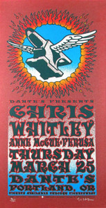 Chris Whitley Poster Anne McCue Dante's Portland 2004 Signed to 140 Gary Houston