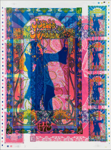 Janis Joplin Poster Original Rare Double Strike Uncut Proof Signed by Bob Masse