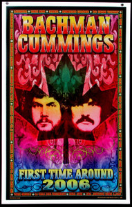 Bachman Cummings Band Poster First Time Around Tour 2006 Hand-Signed Bob Masse