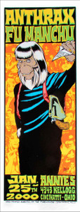 Anthrax Foo Man Chu Poster Annies Cincinnati Alan Forbes Silkscreen SN 350